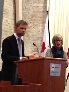 Helseminister Bent Høie og  Statssekretær  Anne Grethe Erlandsen