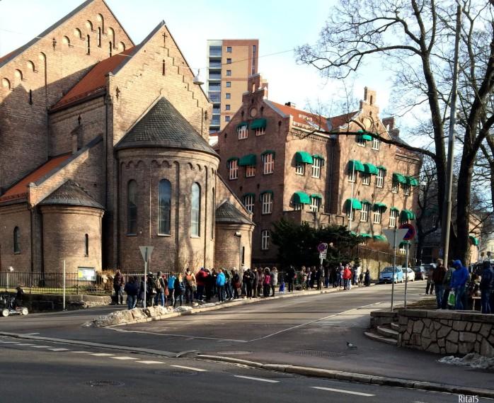 Matkø til Fattighuset Foto: Rita Nilsen