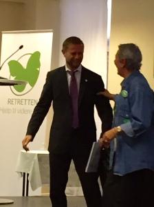 Foto: Anne Koppang Helseministeren åpener konferansen Tools for Hope
